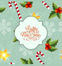 festive christmas seamless pattern vector image