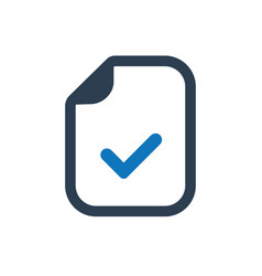 File accepted icon vector