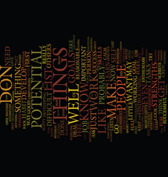 Find your greatest potential text background word vector