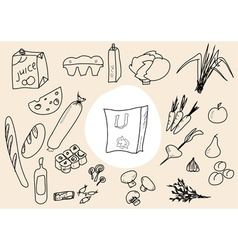 Food scetch vector
