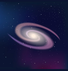 Galaxy on a dark night starry sky vector image