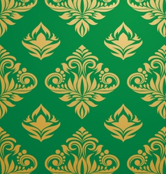 Gold-green-pattern vector