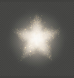gold star dust glitter explosion of confetti with vector image