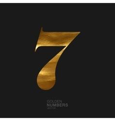 Golden number 7 vector