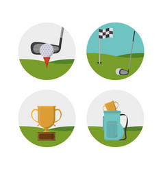 golf sport cartoons vector image
