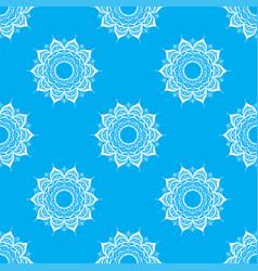hand drawn seamless pattern with mandalas vector image