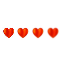 hearts different blur intensity vector image