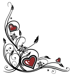 Hearts Tribal vector image
