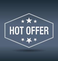 Hot offer hexagonal white vintage retro style vector
