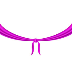 Knot tied in purple design vector