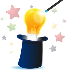 Magic Hat Idea Lamp Creative vector image