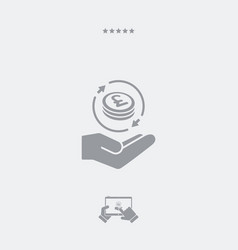 Money transfer services - sterling - minimal vector