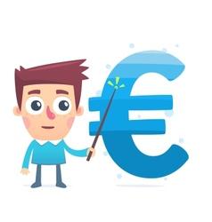 Monitoring money savings vector image