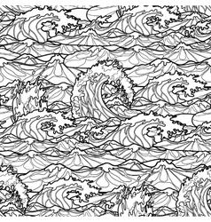 Ocean waves pattern vector