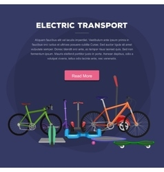 one and two wheeled mobility electric vehicle vector image