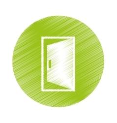 open door icon vector image