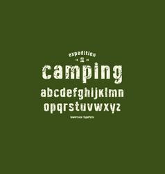 Original lowercase sans serif font vector