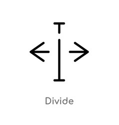 Outline divide icon isolated black simple line vector