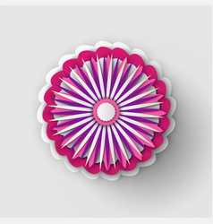 paper cut pink design flower vector image