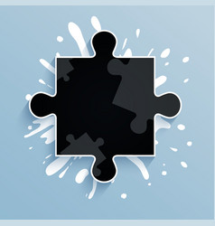 part of puzzle on a blue background with strokes vector image