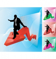 profit surfer business concept illustration vector image