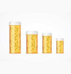 realistic detailed 3d pills tablet tube bottle set vector image