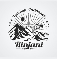 Rinjani mountain vector