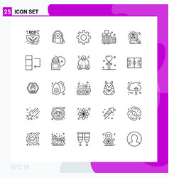 Set 25 commercial lines pack for infect case vector