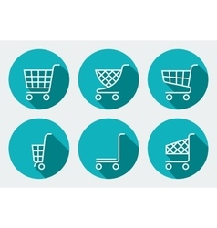 Set of Supermarket trolley vector