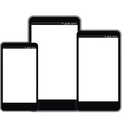 Smart Phone with white screen sizes vector image