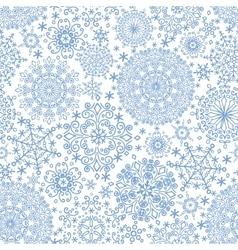 Snowflakes seamless patternWinter crystal vector image