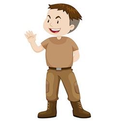 Soldier in casual uniform vector image