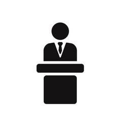 speaker podium icon vector image