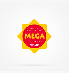 special offer sale tag like as sun vector image
