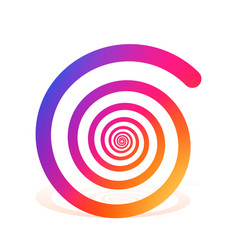 spiral color rainbow on white background vector image