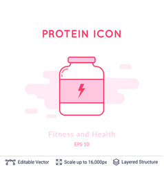 sport nutrition icon isolated on white vector image
