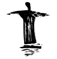 Statue Cristo Redentor vector