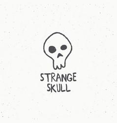 strange skull abstract sign symbol or logo vector image