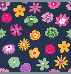 tropical flowers in bloom blossom botany pattern vector image