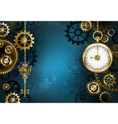 Turquoise Background with Gears vector