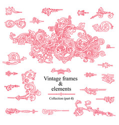 vintage elements images collection part 4 vector image