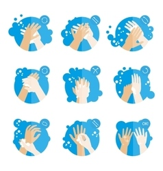 Washing hands properly - medical instructions for vector