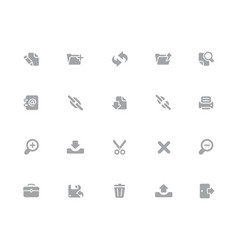web icons 32 pixels icons white series vector image