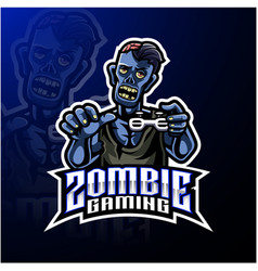 Zombie undead mascot logo design vector