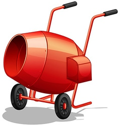 Cement mixer vector image
