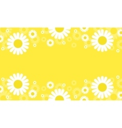 Flower spring yellow backgrounds vector
