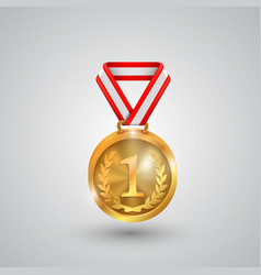 medal holder on a white background vector image vector image