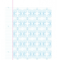 notebook doodle background vector image vector image