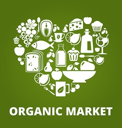 OrganicMarket vector image vector image