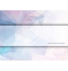 Rectangle banner on polygonal background vector image